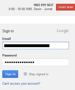 login google keyword planner