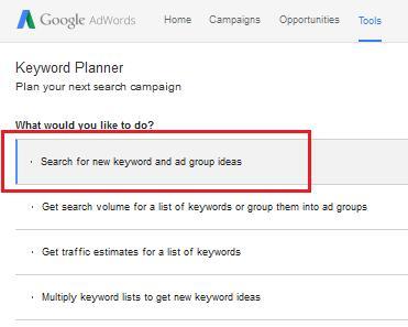 langkah membuat keyword baru